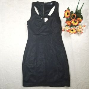 BLACK DRESS FOREVER 21 SIZE SMALL